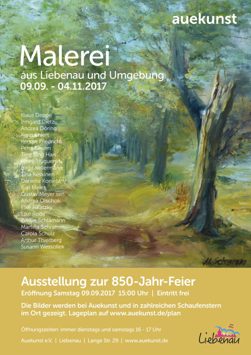 Plakat Ausstellung Malerei