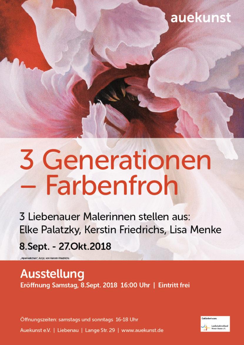 Plakat_3 Generationen – Farbenfroh_Auekunst